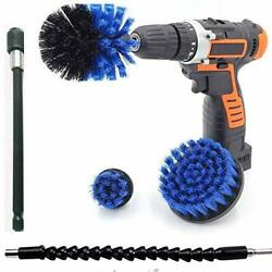 5 Pcs Drill Brush Attachment Set Power Scrubber Cleaning Kit For Carupholstery