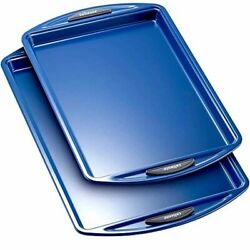 Nonstick Bakeware Set Of 2 Cookie Sheets Large And Medium Kitchen Gift Top Quality