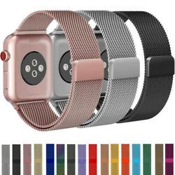 38-45mm For Apple Watch 7/6/5/4/3/2/se Magnetic Milanese Loop Band Iwatch Strap
