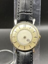 Vintage Lecoultre 14k White Gold Mystery Dail Mens Watch Manual