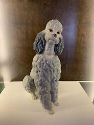Lladro Spain Poodle Figurine Rare Gray Glazed Collectible