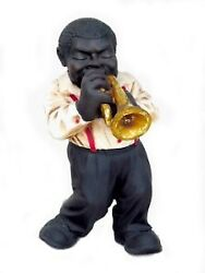 20 African American Black Trumpet Player Funny Band Resin Statue Figurine Decor