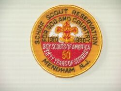 1960 Schiff Scout Reservation Patch - Mint - Part Of The 50th Anniv Set