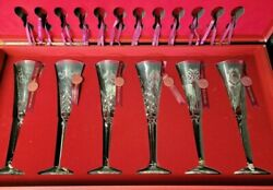 Waterford 12 Days Of Christmas Crystal Flutes With Collectorand039s Box