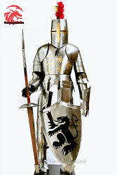 Medieval Knight Suit Of Full Body Armor Stainless Steel Templar Combat Armor
