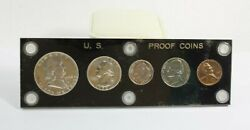 1952-p Us Mint Silver Proof Set 5 Coins Black Acrylic Holder Free Shipping