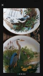 Antique Rare Discontinued Set Of Plates From Scenes From A Wooded Glen Set Of 12