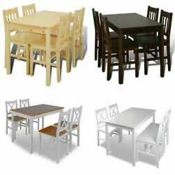 Home Kitchen Dining Set Wooden Furniture Table And Chairs Seat Multi Colors