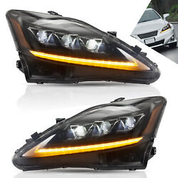 Led Sequential Headlight Projector Headlamp For Lexus Is250 Is350 Is 220d Is F