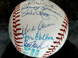 Rare Sept.171976 Hank Aaron Night Milw Brewers Signed Team Ball Yount Aaron