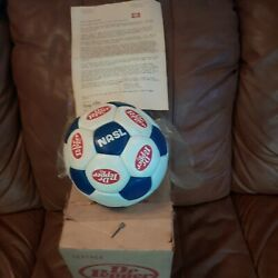 Dr Pepper Vintage Soccerball 1978 Leather Ball Orig. Bag And Box In Excel Cond