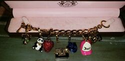 Juicy Couture Gold Toggle Charm Bracelet Charms