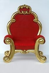 65 Giant Red And Gold Leaf Santa Christmas Prop Throne Chair Display
