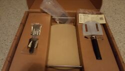 Pampered Chef Pizza Baking Stone Set - 13in W/cutter And Rack - New In Box