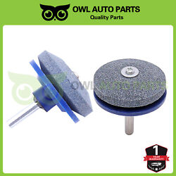 Lawn Mower Blade Sharpener Sharpening Stone Grindstone For Any Power Pair Of 2