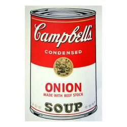 Andy Warhol Soup Can 11.47 Onion W/beef Stock Silk