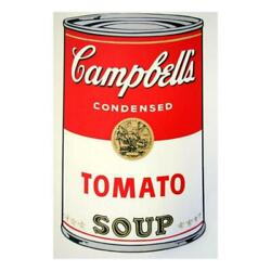 Andy Warhol Soup Can 11.46 Tomato Soup Silk Screen