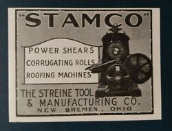 1925 Stamco Advertisement The Streine Tool And Manufacturing Co. New Bremen, Ohio