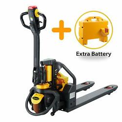 Apollolift Full Electric Lithium Pallet Jack 3300lbs Capacity 48 X27 Fork Size