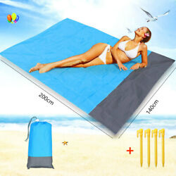 Outdoor Waterproof Beach Mat Sand Free Camping Foldable Picnic Blanket $11.59