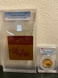 End Of World War Ii 75th Anniversary Gold Coin First Strike