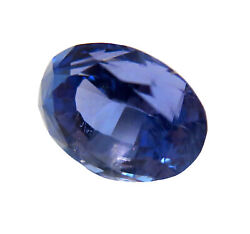 Sapphire Blue Oval Faceted 4.085ct Old Stock Vibrant Translucent Gemstone