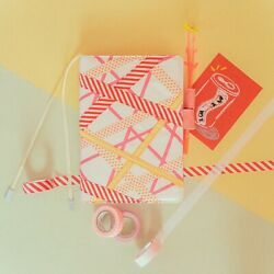 hobonichi cousin cover A5 Red and Yellow mix C $95.00