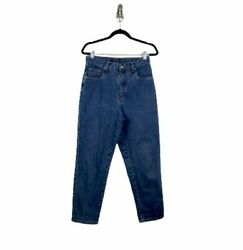 Vintage 90's Bill Blass Easy Fit High Rise Mom Jeans Size 8 Medium Wash