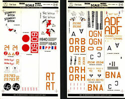 Micro Scale Decals 2 Sheets 1/72 Scale Ww2 Famous B-24 Bombers 72-24 B-17 72-2