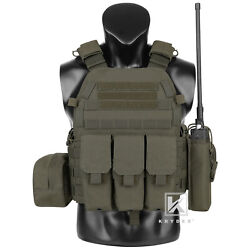 Krydex Lbt-6094a Plate Carrier Tactical Body Armor Vest With Pouch Ranger Green
