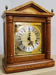 Vintage German 8day Hermle Architectural Triple Chime Musical Chime Mantel Clock