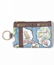 New Lesportsac X Disney Id Card Case Classic Pooh Denim F/shipping From Japan