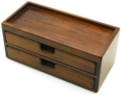 Toyooka Craft Wooden Alder Fountain Pen Box 8 Pens F/s From Japan