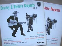 2 X Rare Country And Western Favourites Lps - 1961 /1962 Early Philips Exc/exc