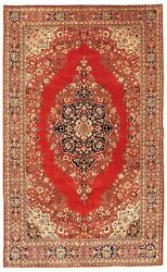 Hand-knotted Turkish Carpet 6and0398 X 11and0392 Hereke Traditional Wool Rug