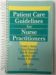 Patient Care Guidelines For Nurse Practitioners By Axalla J. Hoole Mint