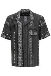 New Dolce And Gabbana Geometric Print Bowling Shirt G5fx9t Is1hd Righe Fiori Pois