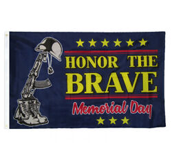 Honor The Brave Support Troops Memorial Day Holiday College RoomDecor Pary Flag