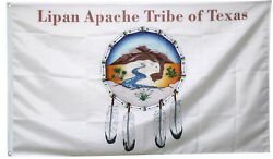 Lipan Apache Tribe of Texas White Banner College RoomDecor Pary Flag 3X5FT