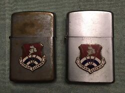 Vintage Rothco Lighter 7272d Air Base Wing Air Force Usaf Lot Of 2 Lighters Read
