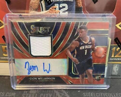 2019-20 Select Tmall 🔥 Zion Williamson 🔥 Rpa Red Wave Rookie Auto Rc Sp Ssp