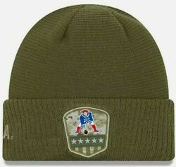 New England Patriots Nfl Salute To Service Sideline Beanie Knit Hat Green