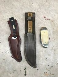 Lot Of Three Knives, Old Timer, Hunting Knife, Rough Rider Jack Knife