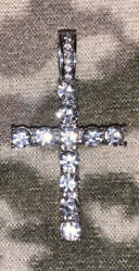 Zirconia Stainless Steel Pendant Cross For Necklace $25.00