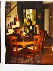 Vintage Oak Dining Table And Chairs 1904