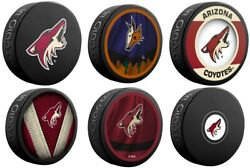 Arizona Coyotes Collectors Package Of 5 Nhl Team Logo Souvenir Hockey Pucks