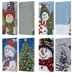 Official Christmas Mix Snowman Leather Book Wallet Case Cover For Fire