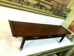 Willet Rectangular Mid-century Modern End Table Coffee Table With Drawers Cherry