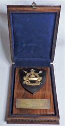 Rare Ooak Indonesia Military Award Plaque To Us Colonel Delegate Carved Wood Box