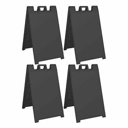 Plasticade Signicade Folding Portable A Frame Sidewalk Store Sign Stand 4 Pack